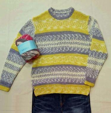 ハスキー 編み込み風セーター.jpg